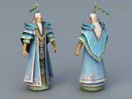 Old Taoist Man 3d model