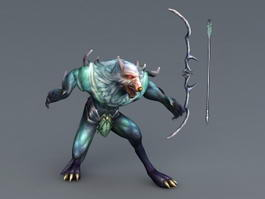 Werewolf Archer with Bow 3d model