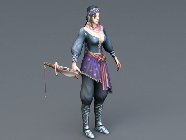Female Rogue Thief 3d model