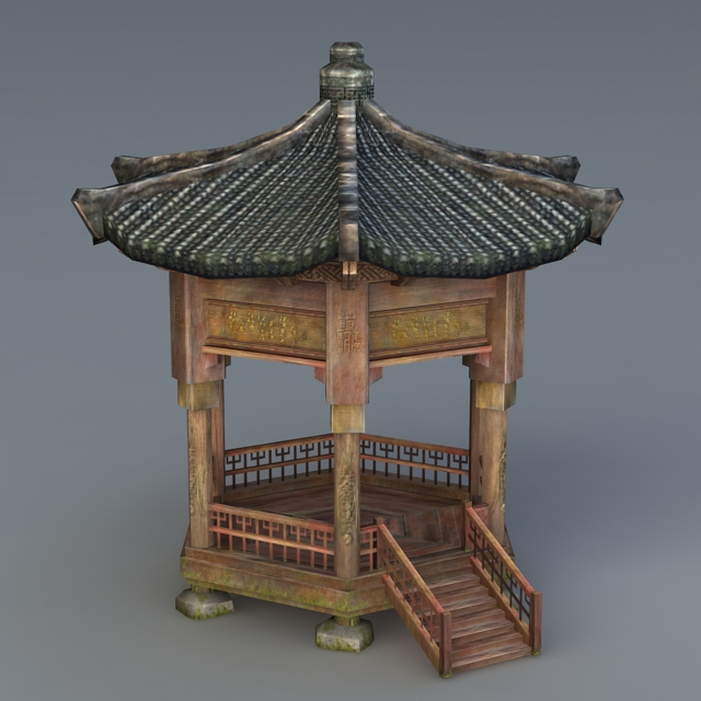 Vintage Chinese Pavilion 3d model