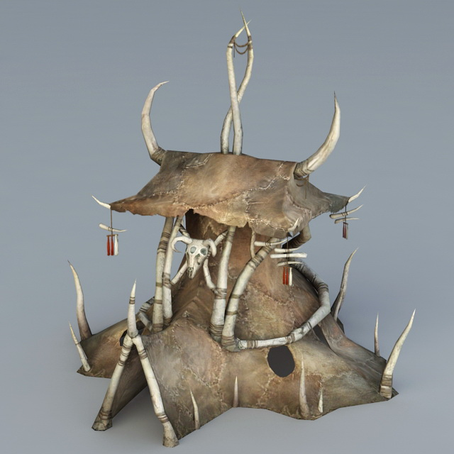 Orc Tent 3d Model 3ds Max Files Free Download Modeling