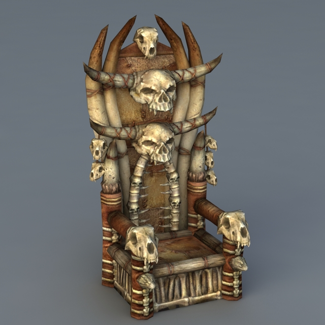 Skull Throne Chair 3d Model 3ds Max Files Free Download