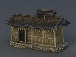 Ancient Asian House 3d preview