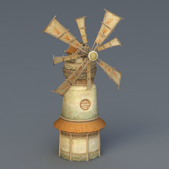 Ancient Windmill 3d model