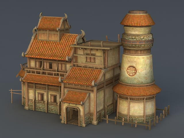 Medieval Tavern And Inn 3d Model 3ds Max Files Free
