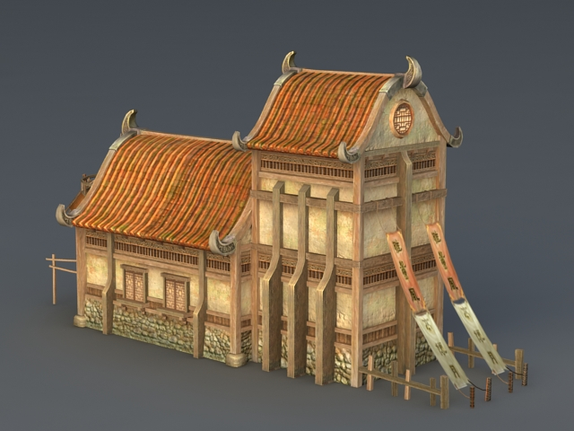 Medieval Village House 3d Model 3ds Max Files Free