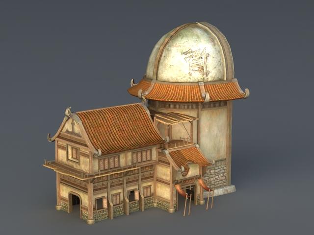 Medieval Inn Tavern 3d model