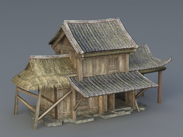 Medieval Chinese Farmhouse 3d model