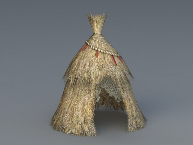 Thatched Hut 3d model