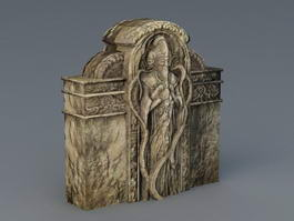 Ancient Relief Sculpture 3d model