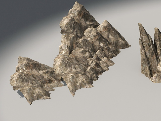 mountain rocky 3d model 3ds max files free download