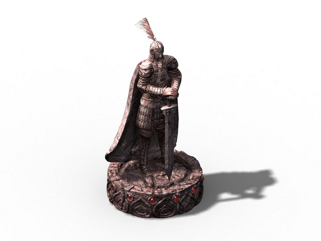 Ancient Warrior Statue 3d model