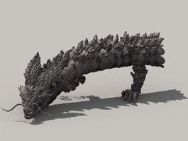 Rock Dragon 3d model