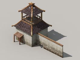 Medieval Wall Tower 3d model