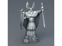 Stone Warrior Statue 3d model