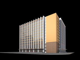 Modern Office Building Exterior 3d model