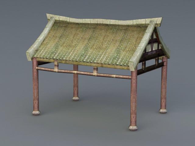Tropical Park Pavilion 3d model