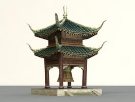 Ancient Chinese Bell Pavilion 3d model