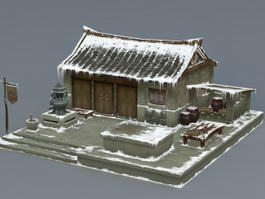 Ancient Snow House 3d model