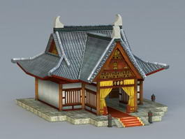 Ancient Chinese Reception Hall 3d model