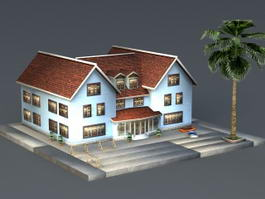 Tropical Beach House 3d model