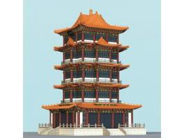 Pagoda Building 3d model