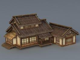 Japanese Architecture 3d Model Free Download Cadnav Com
