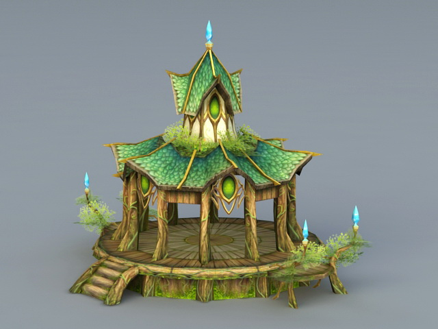 Elf Style Pavilion 3d Model 3ds Max Files Free Download