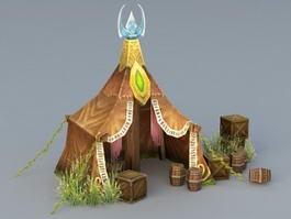 Elven Tent 3d model