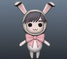 Rabbit Girl Anime 3d model