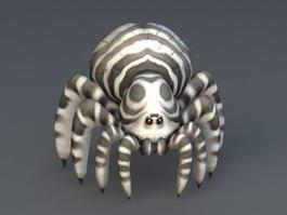 Zebra Spider 3d model
