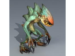 Green Troll Monster 3d model