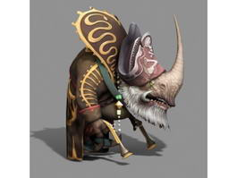 Rhino Man Chief 3d model