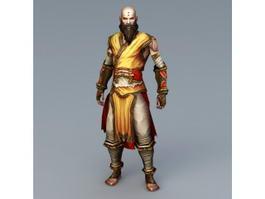 Shaolin Kung Fu Monk 3d model
