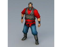 Medieval Russian Man 3d model