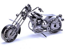 Metal Art Motorcycle 3d model
