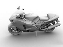 Cruiser Motorcycle 3d model
