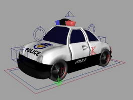 Police Car Cartoon 3d model