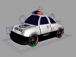 Police Car Cartoon 3d preview