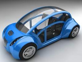 Compact City Car Concept 3d model