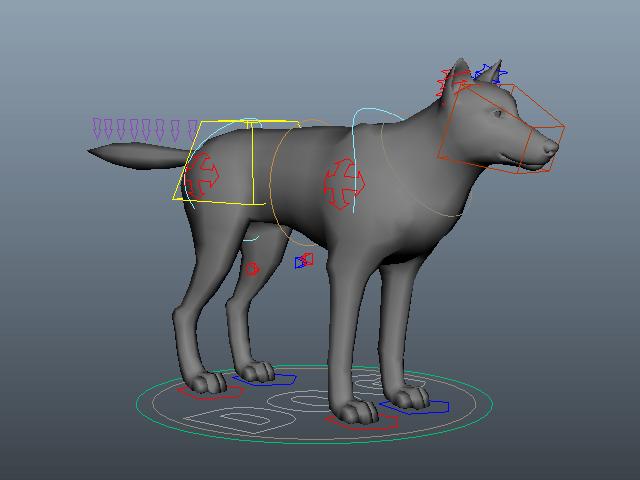 Dog Rig 3d model