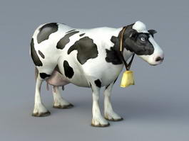 Animated Cow Rig 3d model