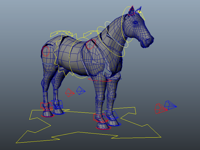 Horse Rig 3d model Maya files free download - modeling 40531 on CadNav