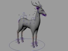 Buck Deer Rig 3d model