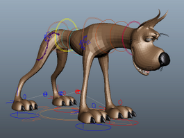 Great Dane Cartoon 3d model