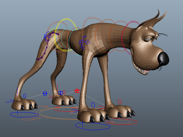 Great Dane Cartoon 3d model