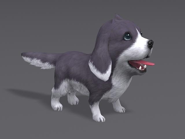 Cute Puppy Dog 3d Model Autodesk Fbx Maya Object Files