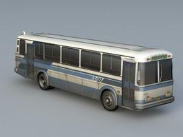 Old Metro Bus 3d model