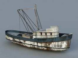 Old Fishing Boat 3d model