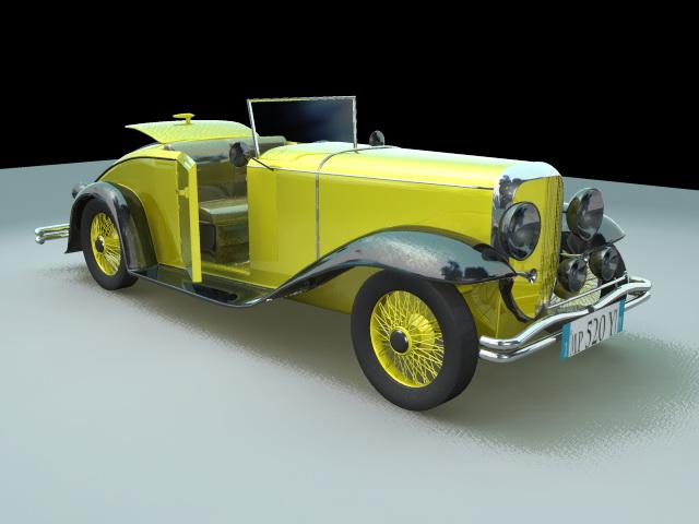 Classic Old Vintage Car 3d model